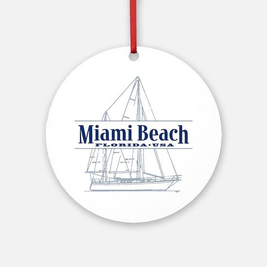 Miami Beach - Ornament (Round)