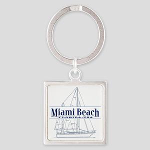 Miami Beach - Square Keychain