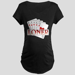 Euchre Loner Maternity Dark T-Shirt