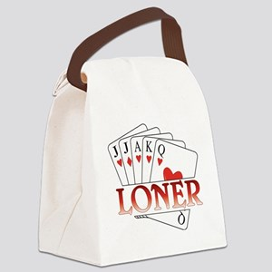 Euchre Loner Canvas Lunch Bag
