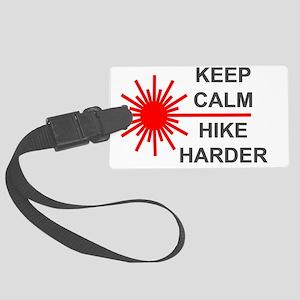 Laser Keep Calm Large Luggage Tag