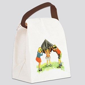 Kids Playing Canvas Lunch Bag