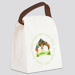 Playing Kids Canvas Lunch Bag