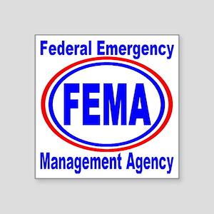 "FEMA Square Sticker 3"" x 3"""