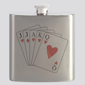 Euchre Playing Cards Flask