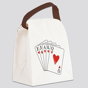 Euchre Playing Cards Canvas Lunch Bag