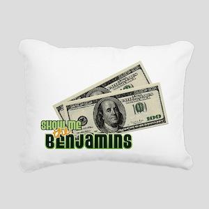 Benjamins Rectangular Canvas Pillow