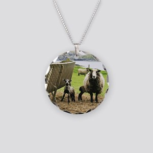 shetland sheep Necklace Circle Charm