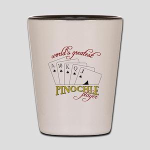 Pinochle Player Shot Glass