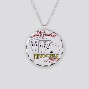 Pinochle Player Necklace Circle Charm