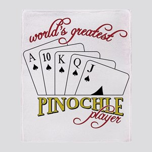 Pinochle Player Throw Blanket