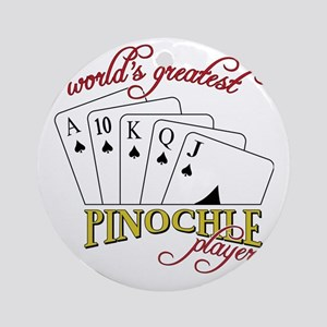 Pinochle Player Round Ornament
