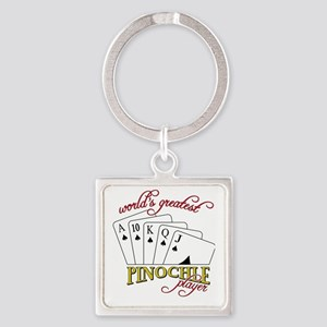 Pinochle Player Square Keychain