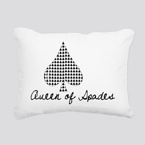 Queen of Spades Rectangular Canvas Pillow