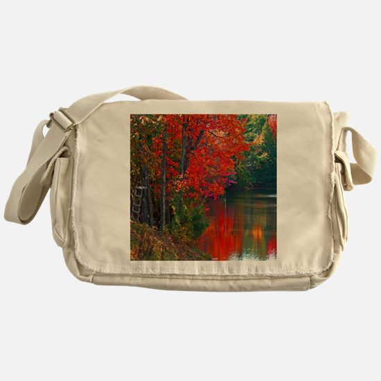 Rope Swings Fall View Messenger Bag