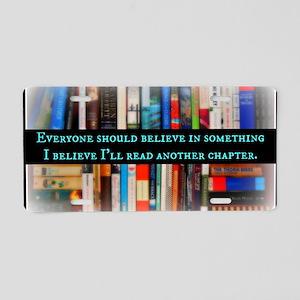 Title Wave Bookshelf Aluminum License Plate