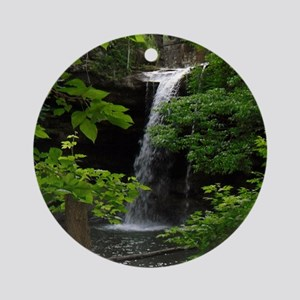 Waterfall Bliss Round Ornament
