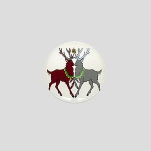 Mistletoe Reindeer Mini Button
