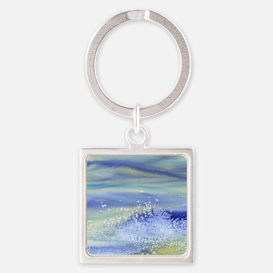 Sea Spray Shower Curtain Square Keychain