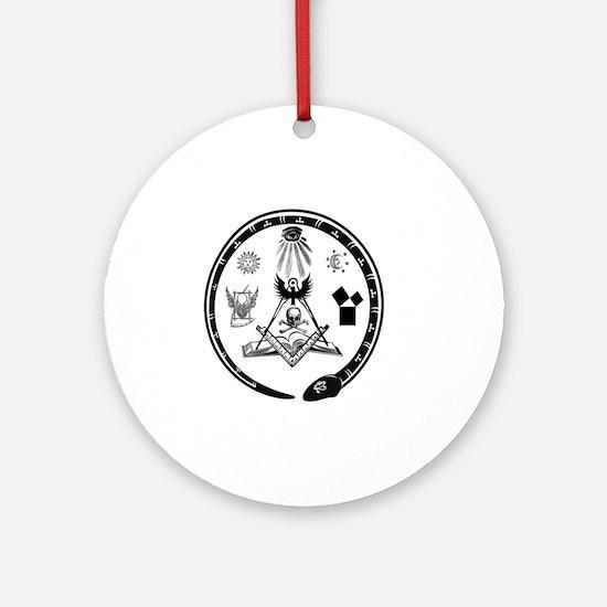 Masonic Logo Round Ornament