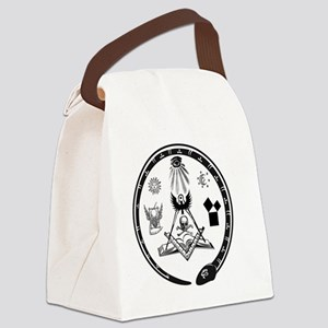 Masonic Logo Canvas Lunch Bag