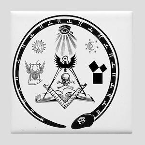 Masonic Logo Tile Coaster