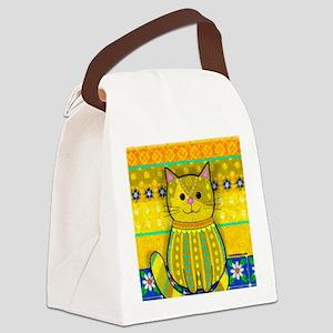 Splendiferous Cat Canvas Lunch Bag