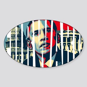 Obama Forward ! Sticker (Oval)