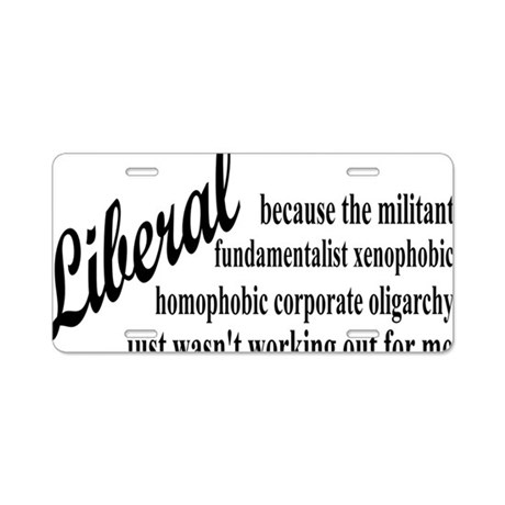 liberalexprectangle Aluminum License Plate