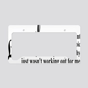 liberalexprectangle License Plate Holder
