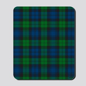 Black Watch Tartan Plaid Mousepad