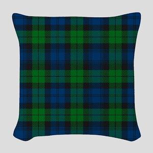 Black Watch Tartan Plaid Woven Throw Pillow