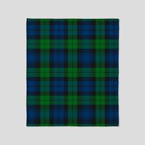 Black Watch Tartan Plaid Throw Blanket