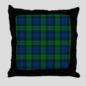 Black Watch Tartan Plaid Throw Pillow