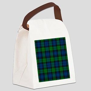 Black Watch Tartan Plaid Canvas Lunch Bag