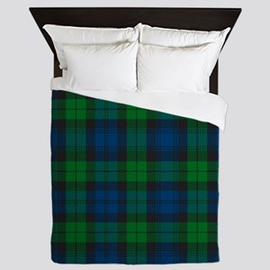 Black Watch Tartan Plaid Queen Duvet