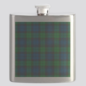 Black Watch Tartan Plaid Flask