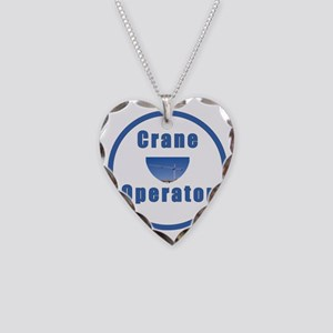Crane operator Necklace Heart Charm