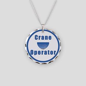 Crane operator Necklace Circle Charm