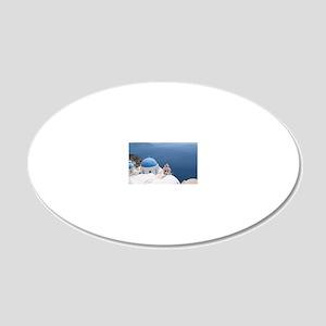 Santorini 20x12 Oval Wall Decal