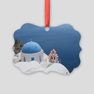 Santorini Picture Ornament
