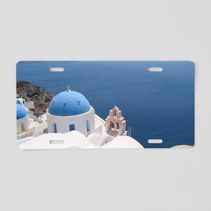 Santorini Aluminum License Plate