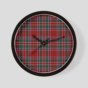 MacDonald Clan Scottish Tartan Wall Clock