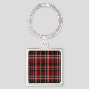 MacDonald Clan Scottish Tartan Square Keychain