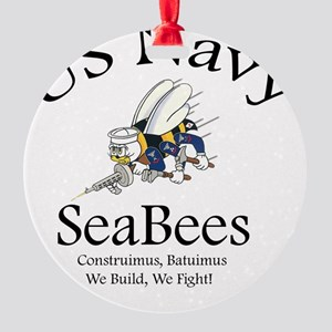 SeaBee Shirt Photo Round Ornament