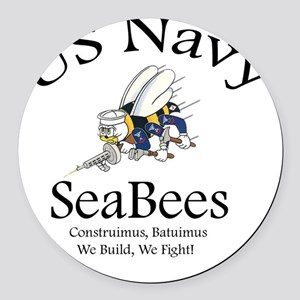 SeaBee Shirt Photo Round Car Magnet