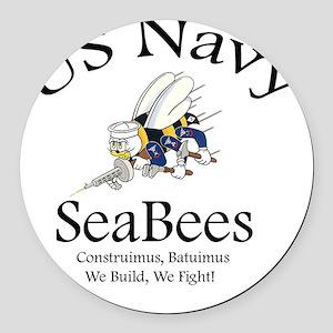 SeaBee Shirt Photo Round Car Magnet