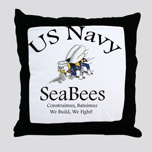SeaBee Shirt Photo Throw Pillow