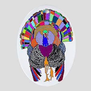 Turkey With Attitude Oval Ornament