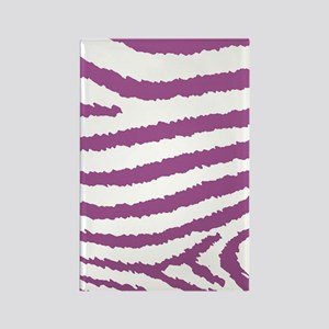 Girly Pink And White Zebra Print Rectangle Magnet